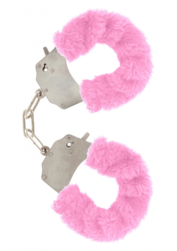 Pouta na ruce plyšová růžová - Toy Joy