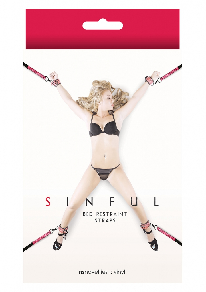 Sinful Bed Restraint Straps pink - NS Novelties