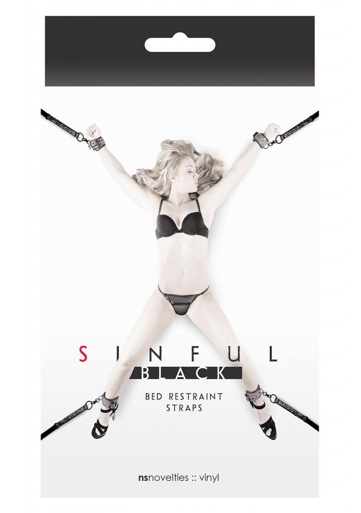 Sinful Bed Restraint Straps black - NS Novelties