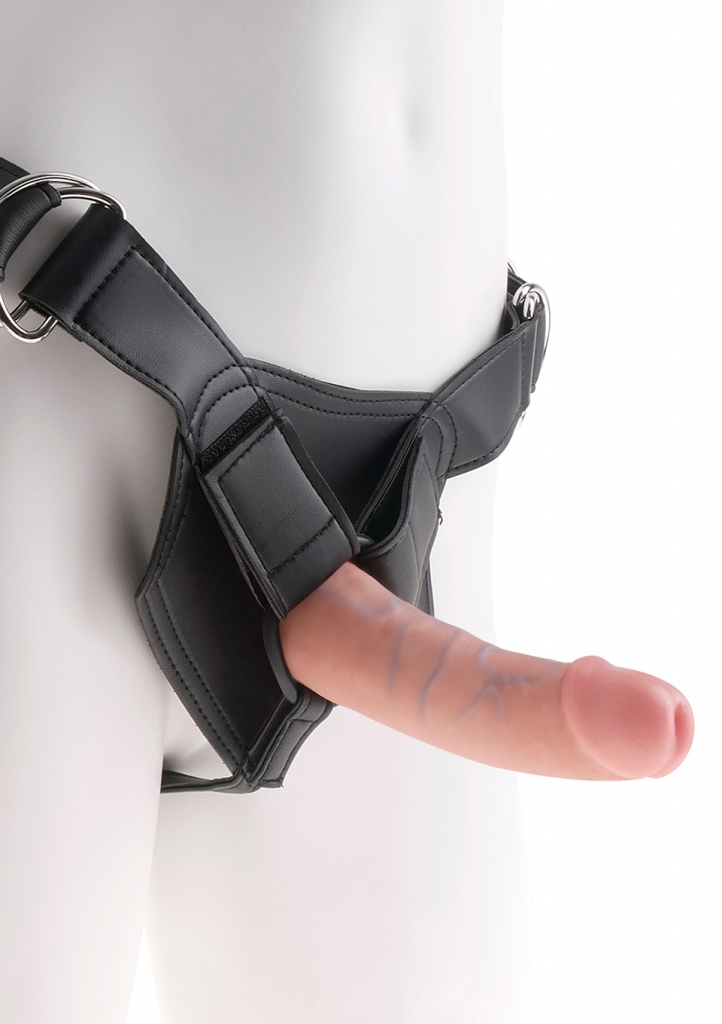 "King Cock Strap-on Harness 6"" Cock flesh - Pipedream"