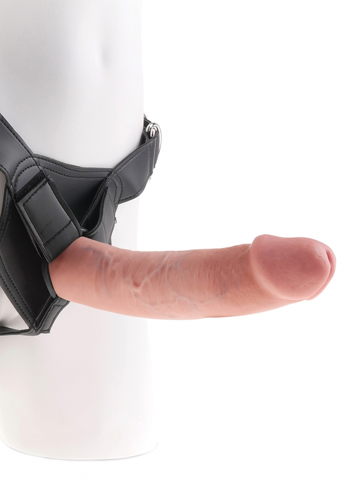 "King Cock Strap-on Harness 9"" Cock flesh - Pipedream"