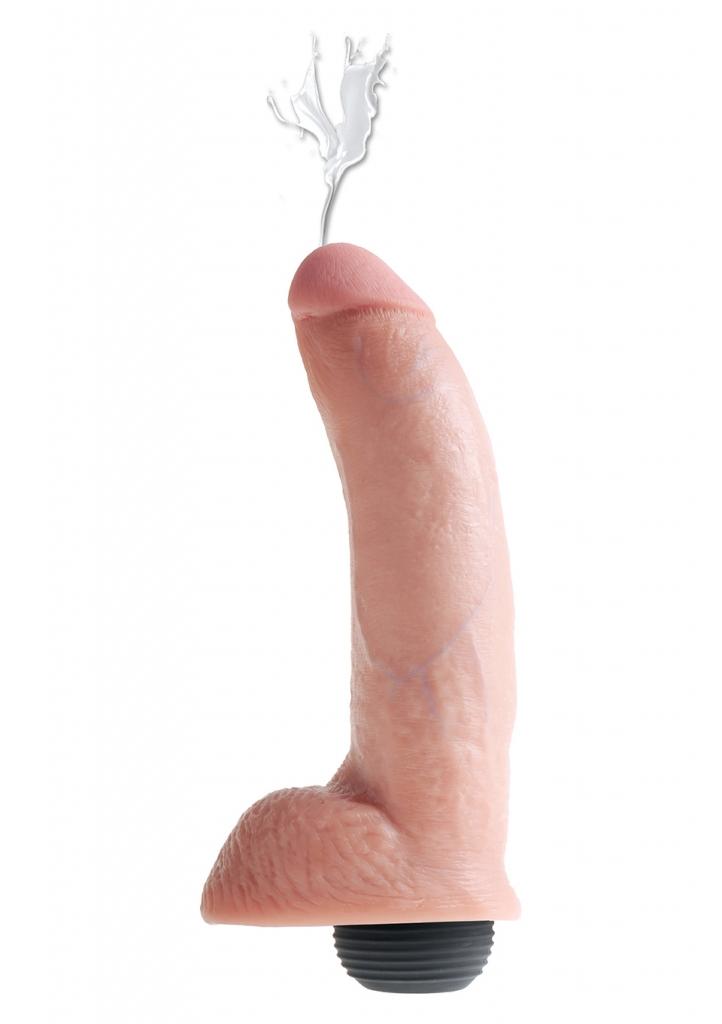 "Stříkající dildo SQUIRTING Cock 9"" flesh - Pipedream"