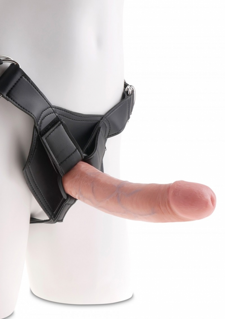 "King Cock Strap-on Harness 8"" Cock skin - Pipedream"