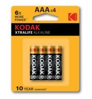 KODAK XTRALIFE alkalická batéria AAA 4 blister 4 ks