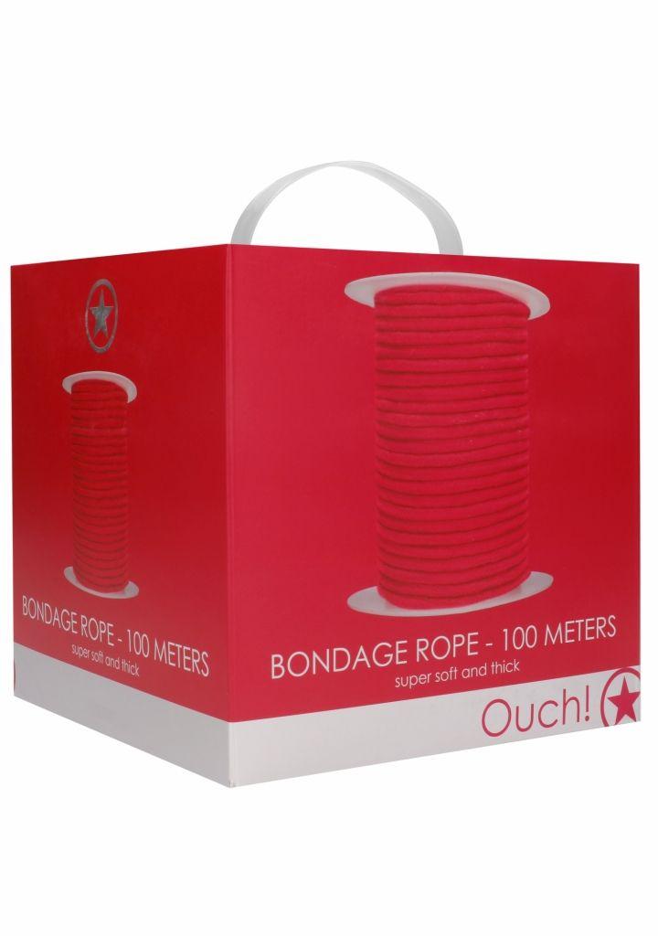 Shots - Ouch! Bondage Rope 100 Meters Red Bondážne lano