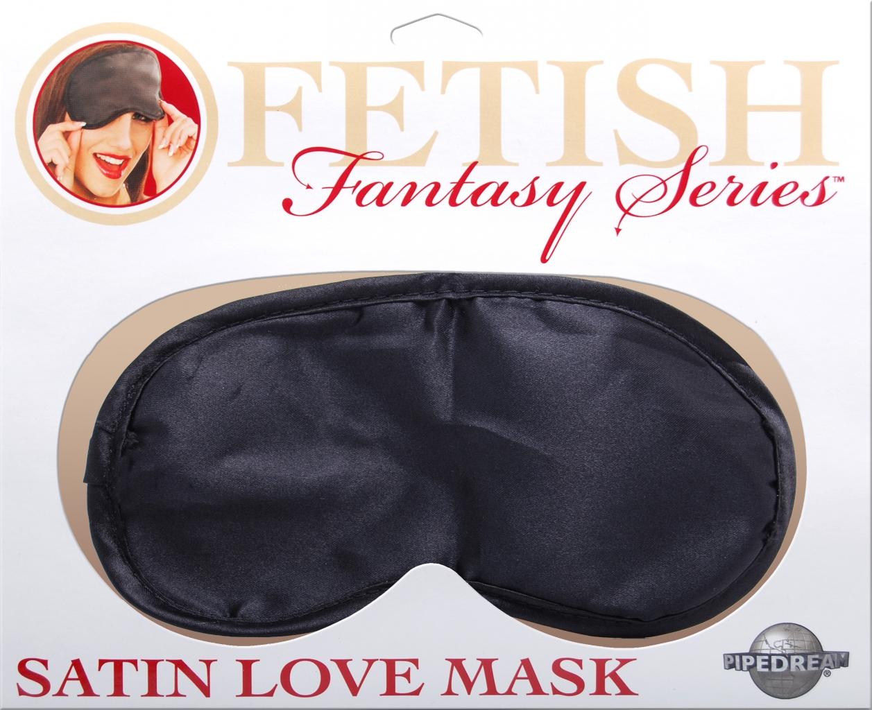 Maska na oči Satin Love černá - Pipedream