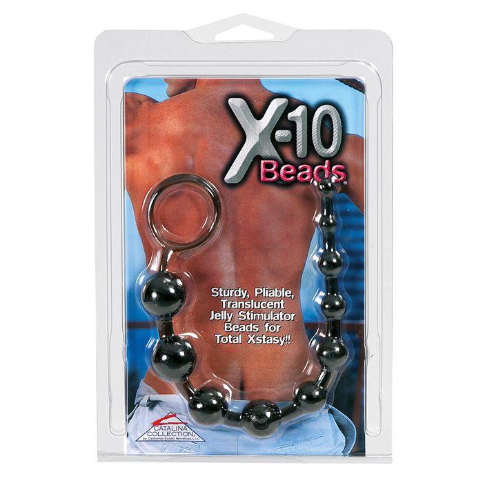 Calexotics X-10 Beads black análne guličky