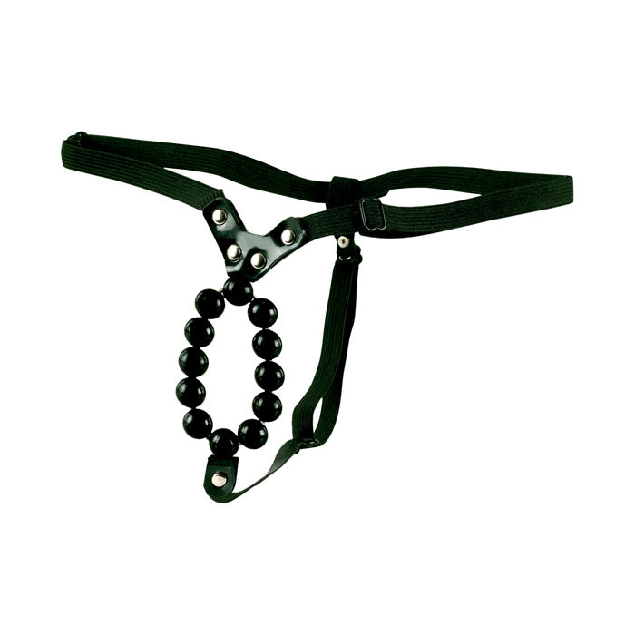 Lover´s Thong With Stroker Beads tanga s korálky - California Exotic Novelties