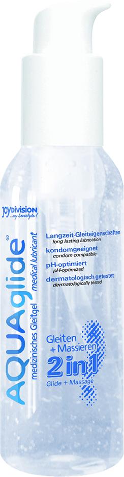 Lubrikační gel AQUAglide 2in1 125ml - JOYDIVISION