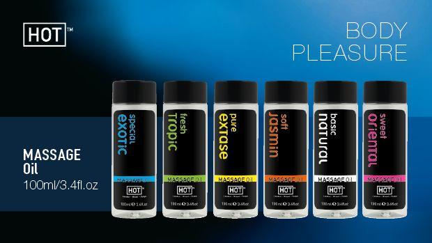 Masážny olej HOT basic natural 100ml