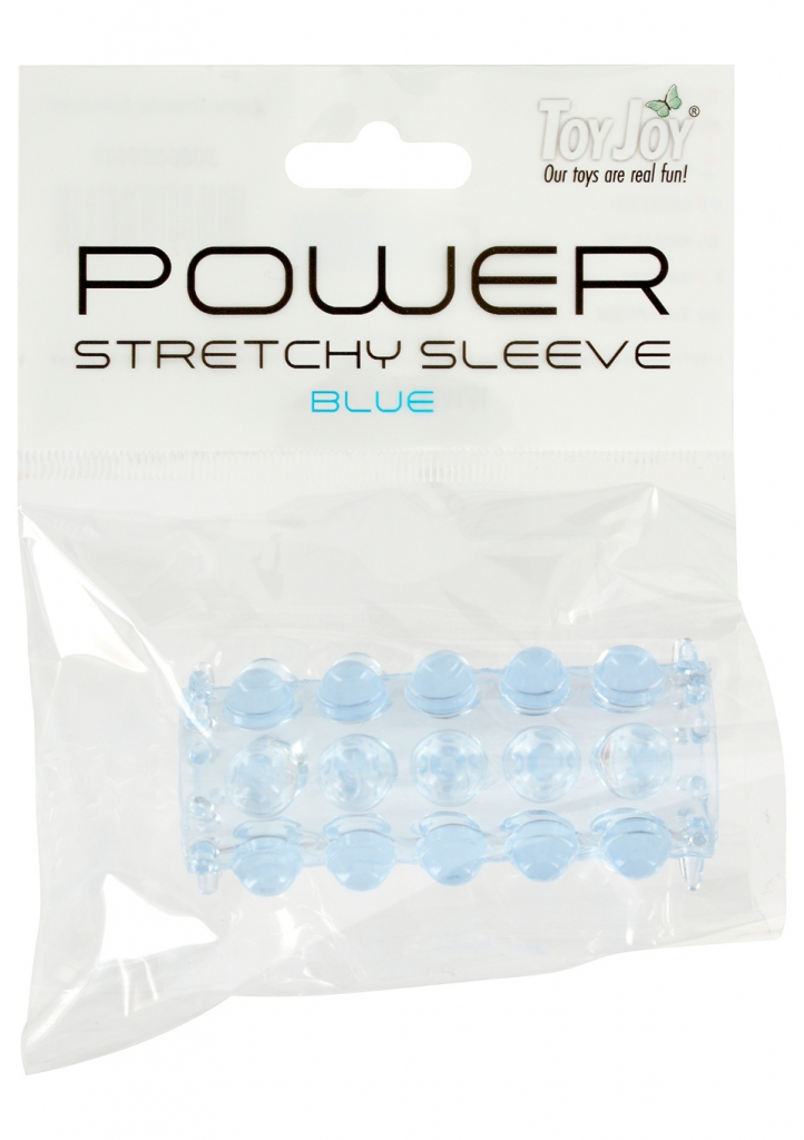 Návlek na penis Power Stretchy Sleeve Blue - Toy Joy