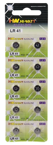 Baterie alkalické hodinkové LR41 10 ks