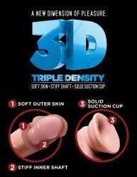 Nejrealističtější umělý penis - King Cock Plus Triple-density Pipedream USA