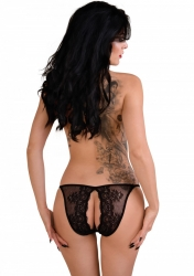 Daring Intimates Natalia black L / XL - nohavičky s otvoreným rozkrokom