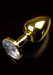 Dolce Piccante - Análny kolík kovový s kryštálom Jewellery Small Gold Diamond