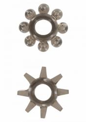 Erekčné krúžky ToyJoy Power Stretchy Rings smoke 2ks