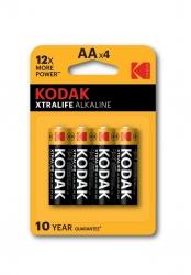 KODAK XTRALIFE alkalická batéria AA 4 blister 4 ks