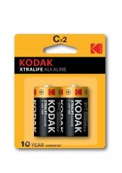 KODAK XTRALIFE alkalická baterie C 2ks blister
