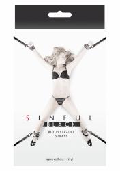 NS Novelties Sinful Bed Restraint Straps black