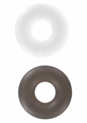 ToyJoy - Erekčné krúžky Stud Rings clear / smoke 2ks