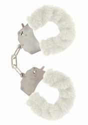 ToyJoy Furry Fun Cuffs putá na ruky plyšová biela