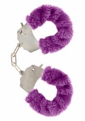 ToyJoy Furry Fun Cuffs putá na ruky plyšová fialová