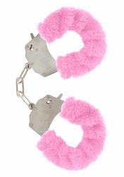 ToyJoy Furry Fun Cuffs putá na ruky plyšová ružová